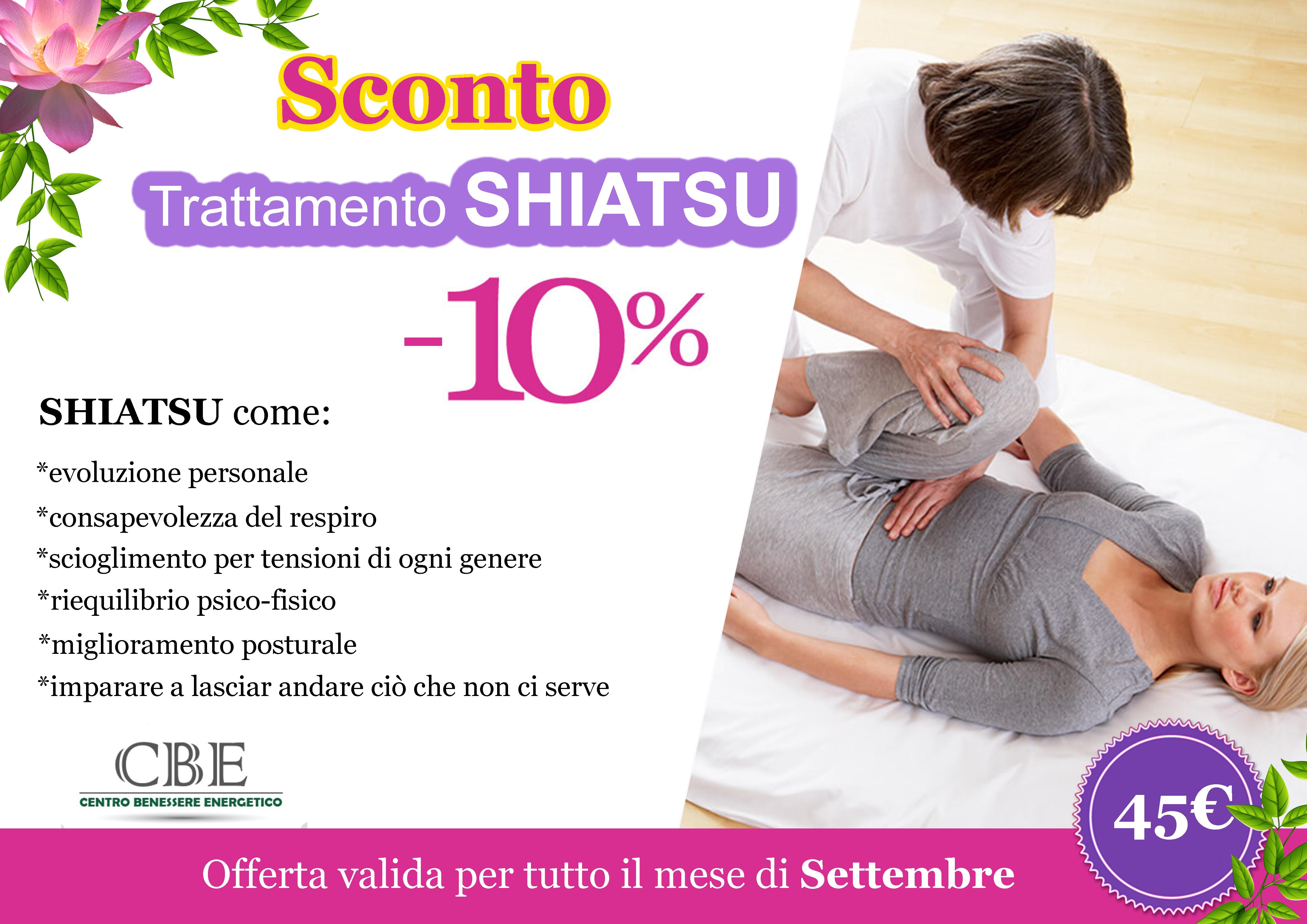 Offerta del mese: trattamento shiatsu