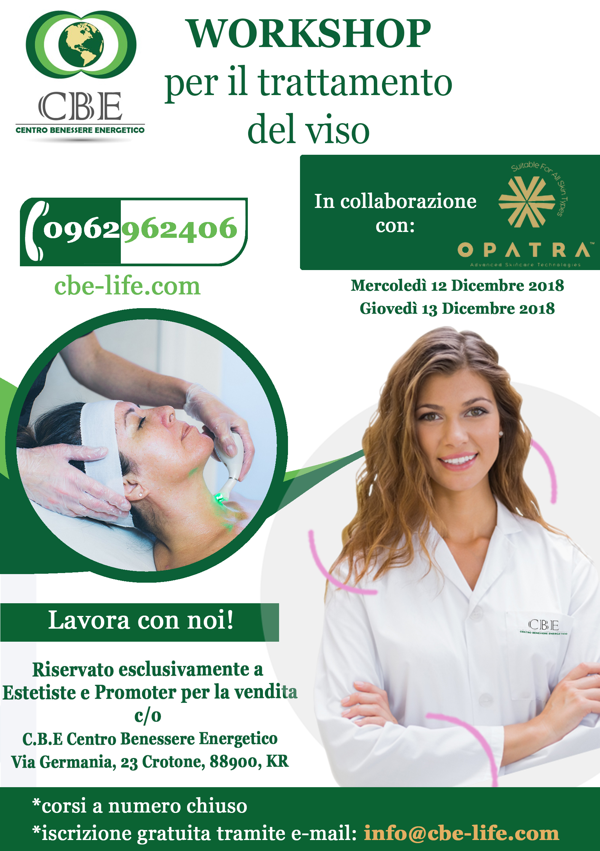 Workshop per il trattamento del viso